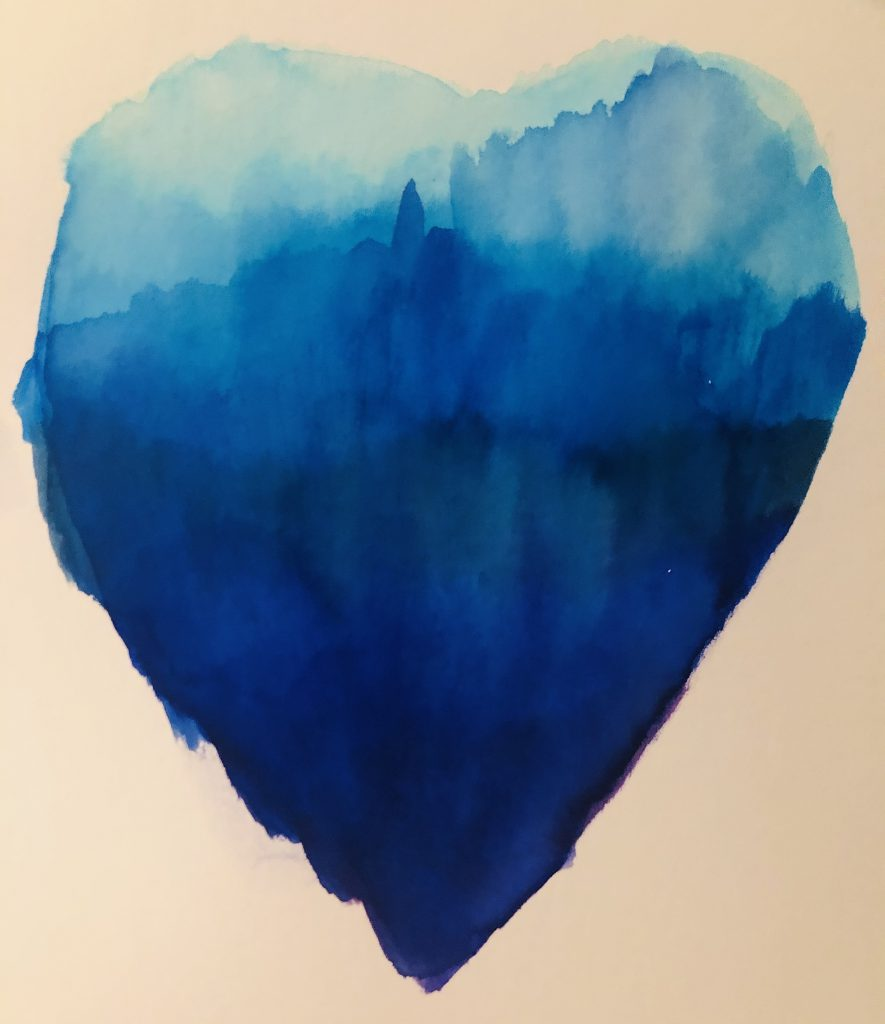 blue heart for healthcare heroes